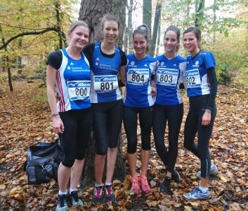 Überzeugten bei Cross (von links): Jolana Lohmann, Lena Helmboldt, Caroline Balduhn, Ann-Kathrin Balduhn und Josefine Meyer-Ranke