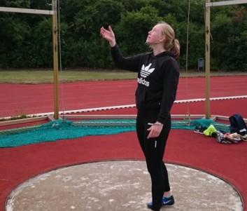 Mira Waterhölter stellte mit den nun erzielten 48,56 m erneut ein Bestleitung auf