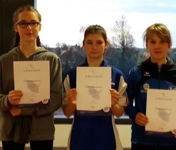 Von links nach rechts: Merle Rummler, Viktoria Aleksandrova und Hanna Hecht